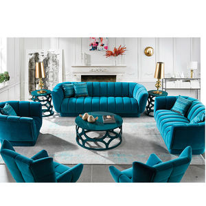 modern blue luxury chesterfield couch living room furniture sofa set with sofa chair