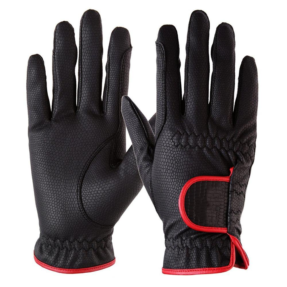 Professional Equestrian Horse Riding Gloves/ custom horse riding gloves synthetic leather for men