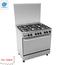 Modern design Vinca 80*50cm cooking range with oven with 5 burners and auto ignition