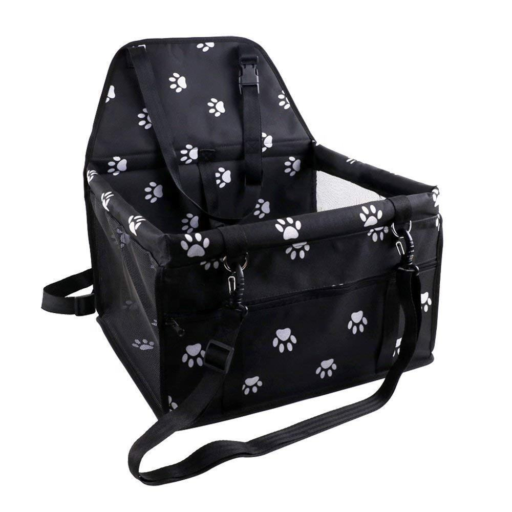 Dog Travel Bag Pet Reinforce Car Booster Seat with Seat Belt for Dog and Cat Pet Travel Carrier