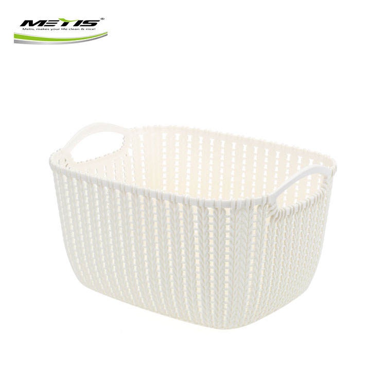 Factory Direct Selling Home Decorative Plastic Woven Kitchen Storage Basket