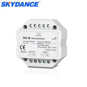 220 V 230 V Knx AC Triac Rancangan RF 2.4 GHZ Wireless Smart Switch dengan Push Dim Output Dimmer untuk Penerangan