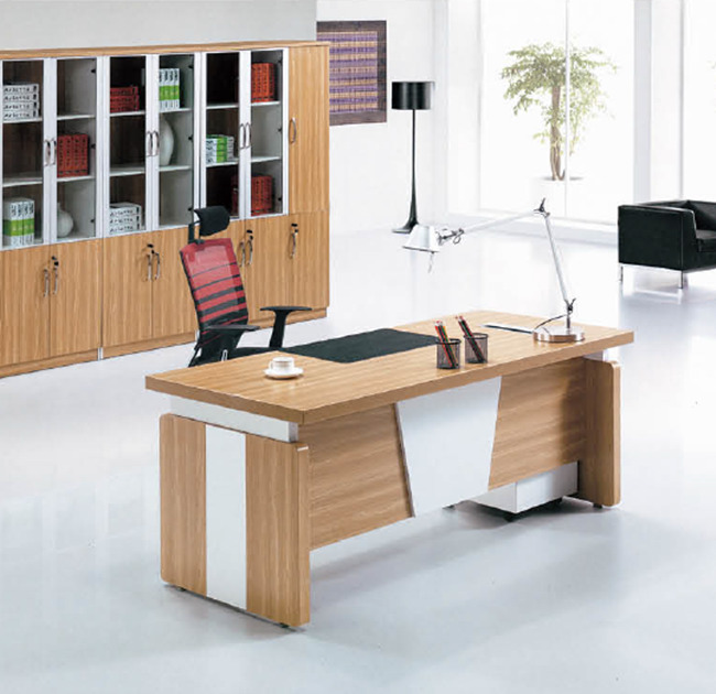 China factory executive computer desk chairman oak wood table desk mdf modern table
