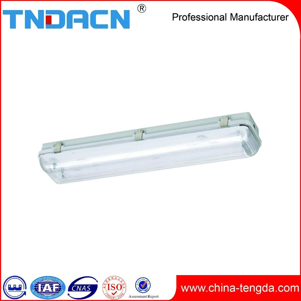 2x18w 12m double t8 tube industrial fluorescent light fixture