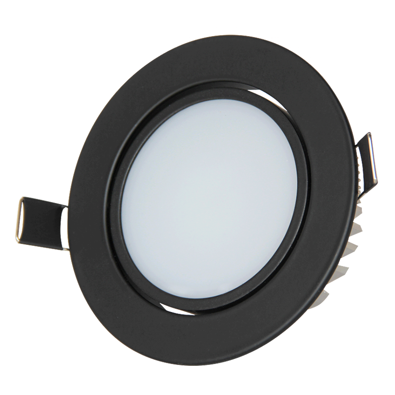 CE RoHS SAA certified 5w Black smd led downlight round high quality recessed ceiling lamp flood lamps lighting