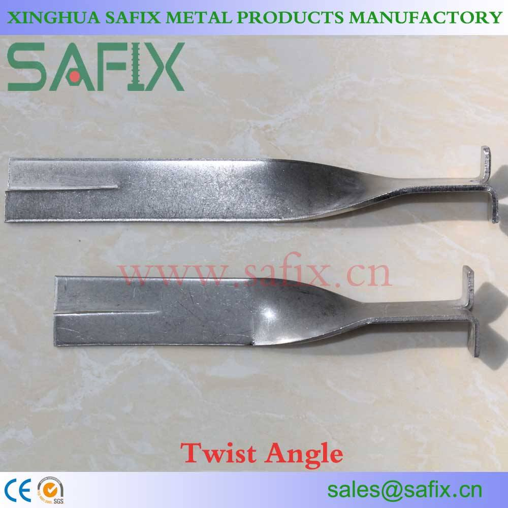 201 304 316 Stainless Steel Twist Angle/Fish Tail Up and Down Bracket For Stone Cladding Fixings