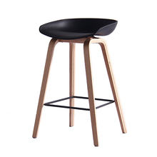 high quality bent wood legs bar chair stool