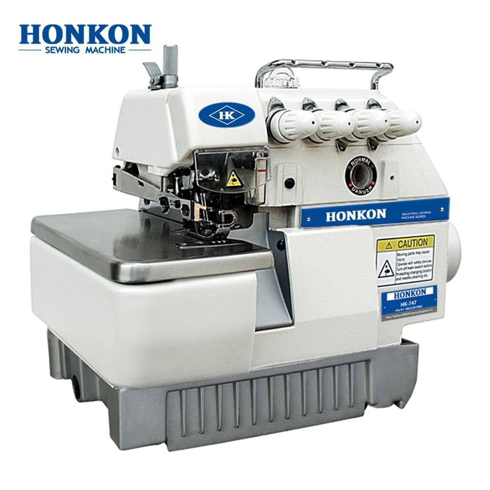 New HK-747 low_noise industrial Multi-functional Overlock Sewing Machine from Original professional Sewing-Machine-Manufacturer