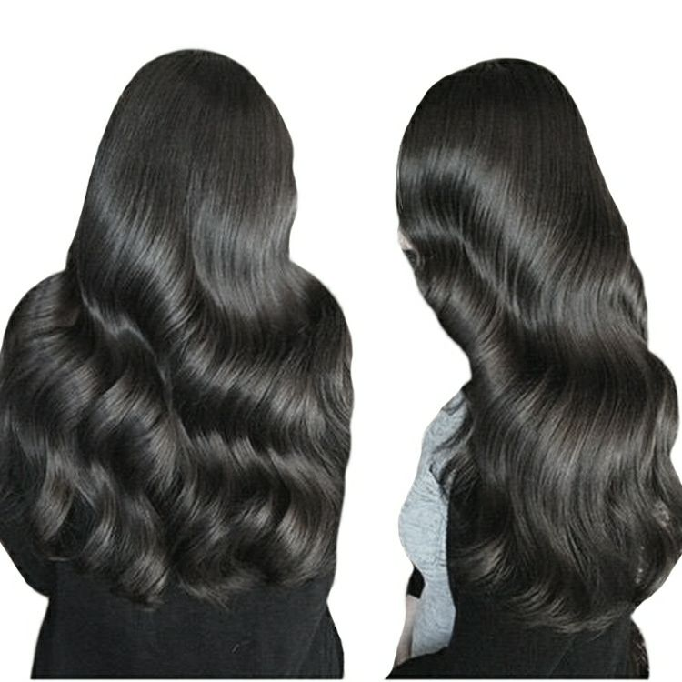 Natural black keratin fusion flat tip hair,nano flat tip hair extensions,double triple hand tied weft hair extension keratin