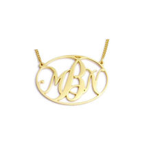 Personalized Jewelry Customised Gold Silver Name Monogram Necklace