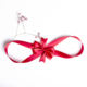Wholesale satin elastic pre-tied ribbon bows for gift wrapping