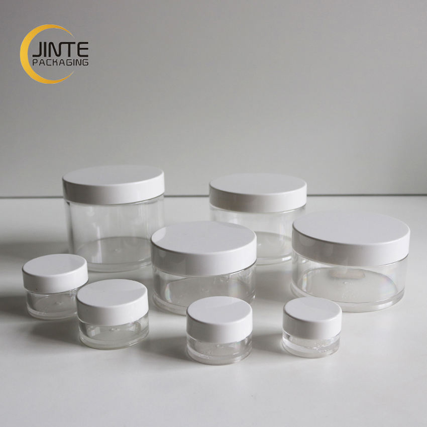 Ready To Ship ! Hot Selling Cosmetic Packaging Face Cream Body Scrub Container 250ml Plastic PETG jar