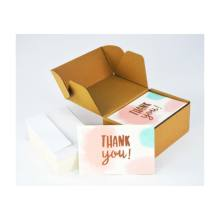 Watercolor Foliage Thank Note Card Bulk Custom Thank You Cards with Envelopes
