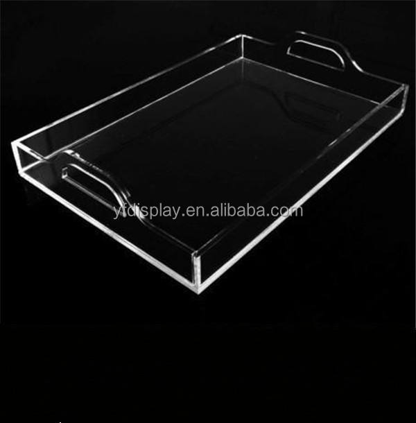 Clear Acrylic Serving Trays Wholesale with Handles