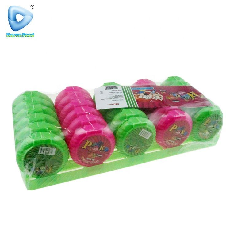 Chinese colourful fruit bubble gum roll