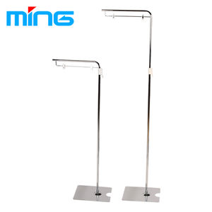 Retail adjustable height supermarket display sign holder