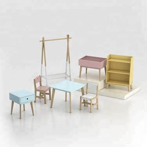 Kids wooden table and chair set furniture children's study table and chair