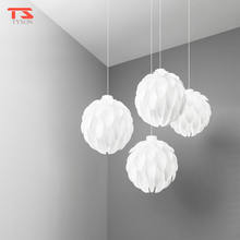 Modern White Plastic Pine Cone Shade Pendant  Lamp Ceiling Led Light