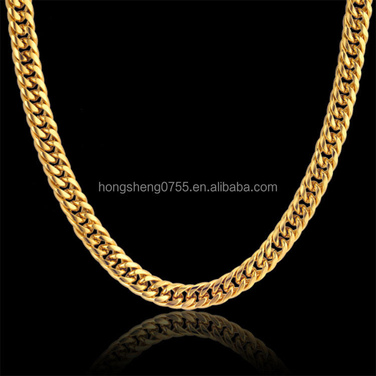 Factory Supply Goud Kleur Rvs Kraag Ketting 8 MM Mens Gold Chain Kettingen