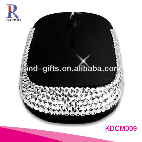 mouse usb con diamante design