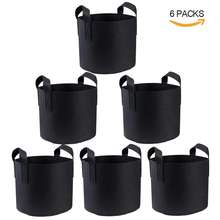 In Stock.1 / 2 / 3 / 5 / 10 / 20 / 30 / 40 / 50 / 100 / 200/300Gallons Garden Grow Bags , Nonwoven Plant Fabric Pots With Handle