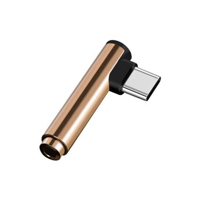 90 degree usb 3.1/31 type c to 3.5/35mm audio adapter