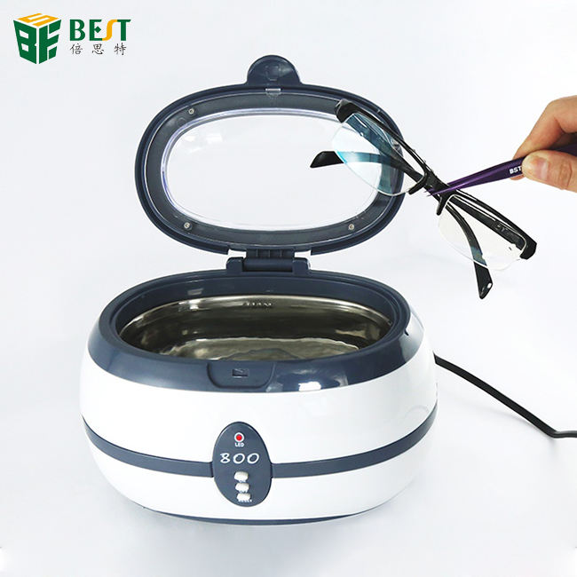BEST 800 35W Mini 600ml dental Ultrasonic Jewelry Cleaner with Digital Control for Jewelry Brush Manicure Stones Cutters Dental