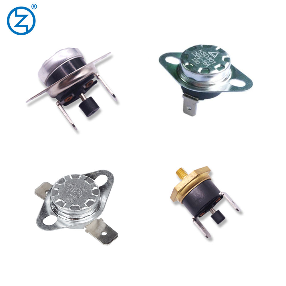 Adjustable Snap Action Temperature Switch KSD301 125V 250V 10A 15A 16A Thermal Disc KSD Bimetal Thermostat
