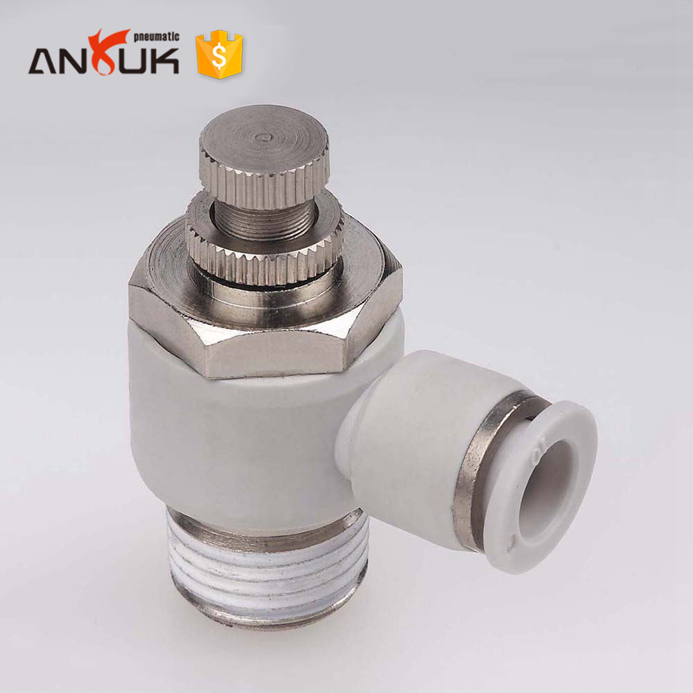 Efficient automatic air push pneumatic fitting