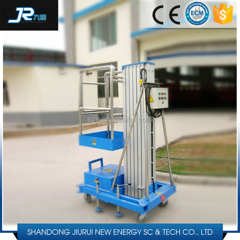 Mobile electric aluminum aerial lifting work platform