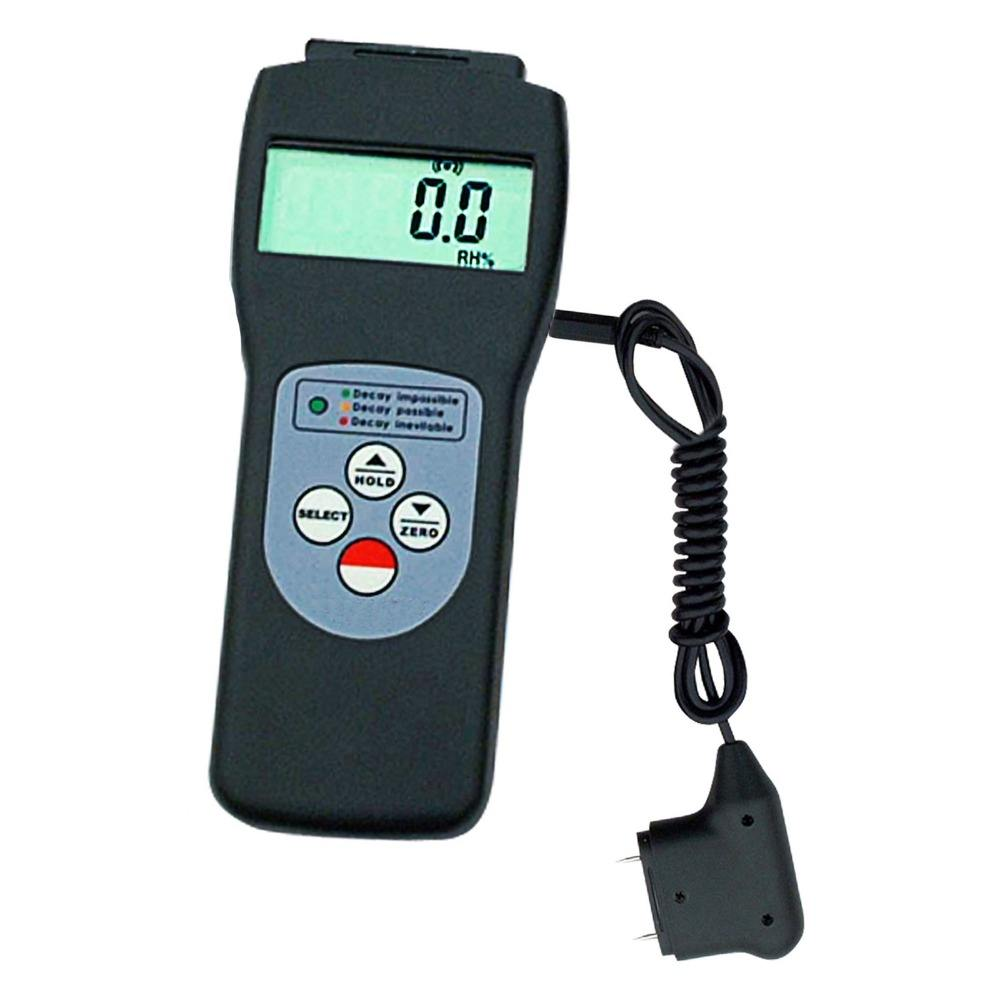 Scanner and Probe Moisture Meter Wood Wall Glass Foam Bricks Digital 2 in 1 Tester