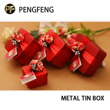 Nice metal tin box for wedding gift