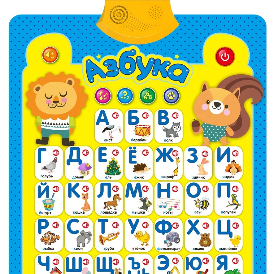 2021 hot sale plastic paper Russian chart sound wall alphabets learning speaking poster