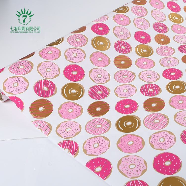 Eco-friendly Gift Wrapping Paper with logo , Gift Wrap in Assorted Light Color, custom print wrap paper