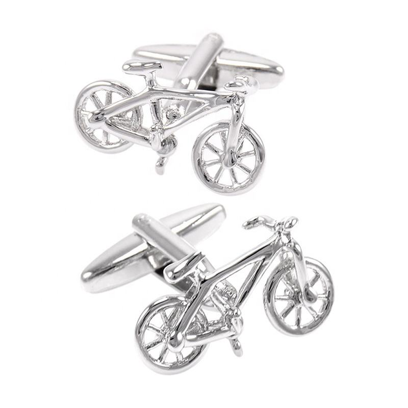SAVOYSHI Novelty Bike CufflinksためMens Suit Shirt Cuffs Silver Bicycle Model CuffリンクMale Gift Fashion Jewelry