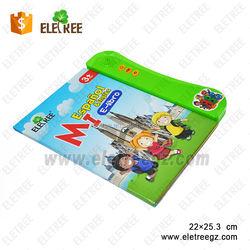 customized Kids children electronic toys Spanish/English educational sound bookS for babies