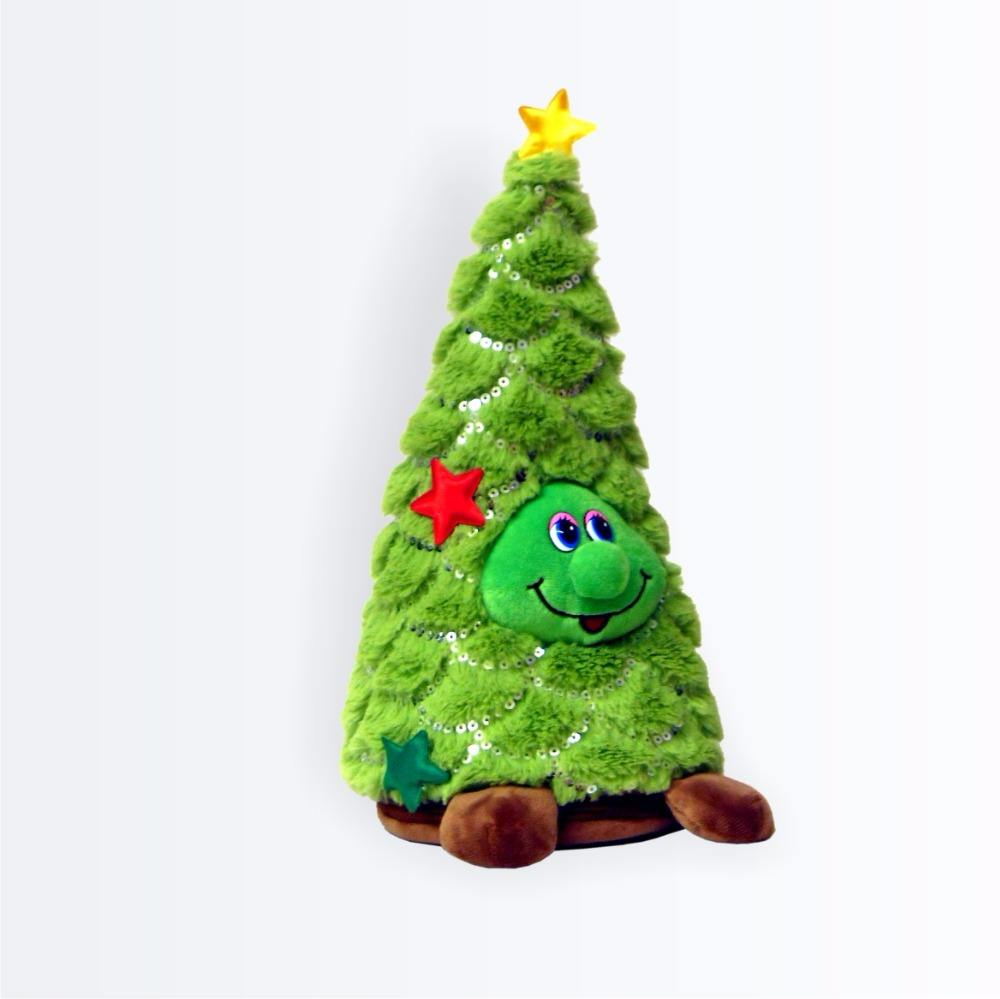 Battery Operated Christmas Handmade Pinne Tree Snowman Plush Cute Electric Toy Xmas Gift for Boys and Girls A Singing /& Dancing Christmas Tree with Lights Musical Novelty Decoration