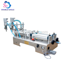 Wholesale price Industrial Double headed semi automatic beer liquid filling machine