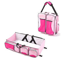 Baby Travel Bed and Bag Baby Diaper Bag Portable Baby Diaper Change Station