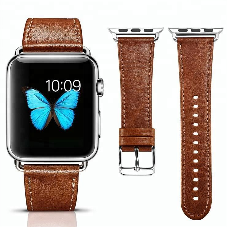 Fashion 38mm Real Leather Band Wristwatch Strap for iWatch for Apple Watch