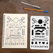 Newest style Hot Customized Shaped Art painting template Amazon Bullet Journal Stencil Set 24 Pcs 0.25mm PET