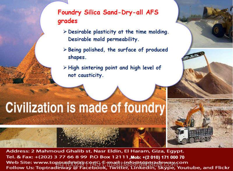 Granulated Foundry Silica Sand