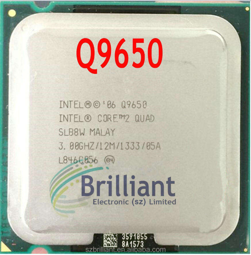 Intel Core 2 Quad Q9650 official version of Extreme 775 Processor