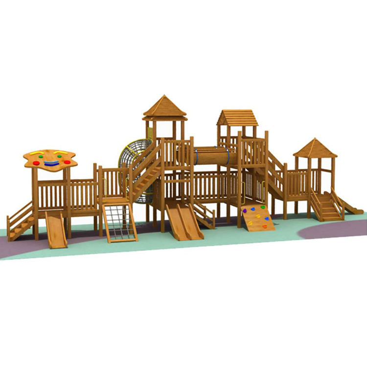 Commercial children wooden outdoor playground