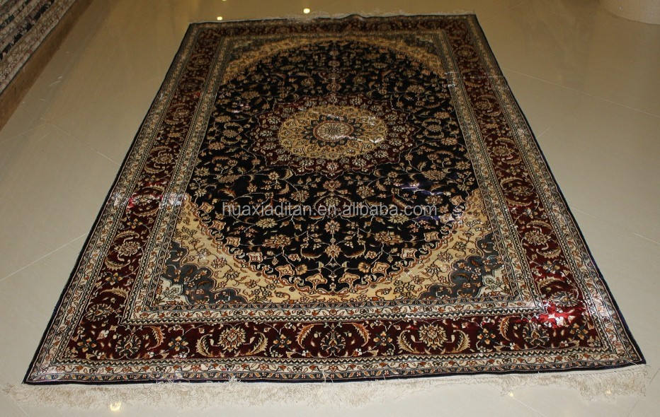 Handknoted carpet Hereke Rug Turkey100% Nature Silk