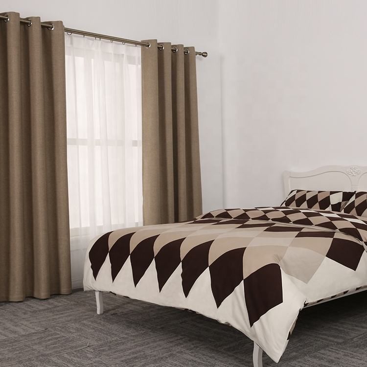 American style simple geometric coffee brand 3d bed linen bedding sets linens