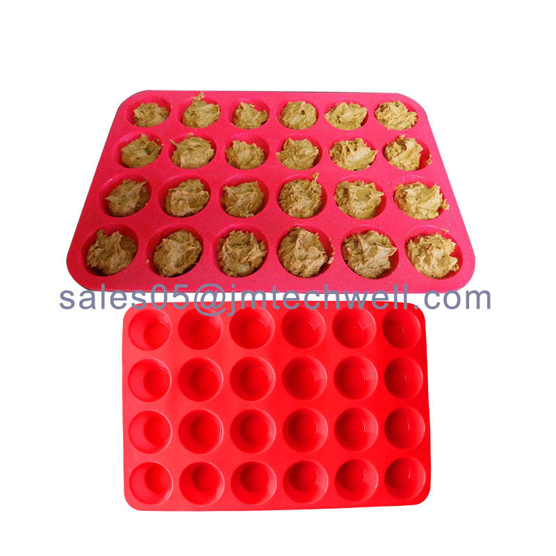 24 muffins silicone gâteau moule
