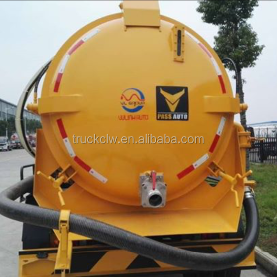 4,000L vacuum tank for transporting sludge or waste water suction truck