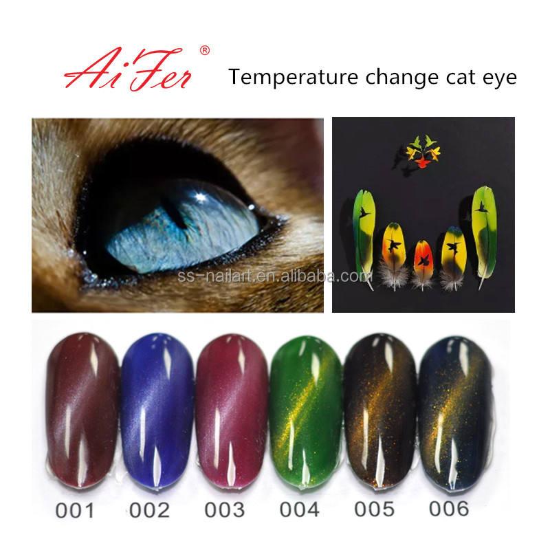 Nueva llegada <span class=keywords><strong>alta</strong></span> calidad sin olor cambio de temperatura ojo de gato gel adecuado en invierno frío nail art salon belleza
