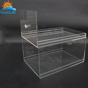 Boîte à chaussures transparente en verre acrylique NAXILAI en forme de boîte à chaussures en plexiglas boîte en acrylique transparente pour boîte